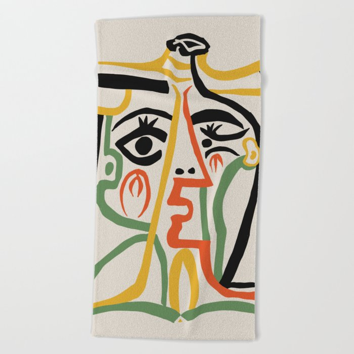 Picasso - Woman's head #1 Beach Towel