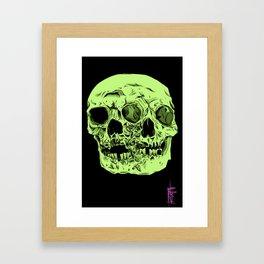 Two Faced Framed Art Print