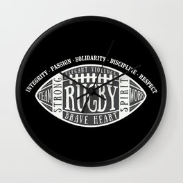 Rugby values Wall Clock