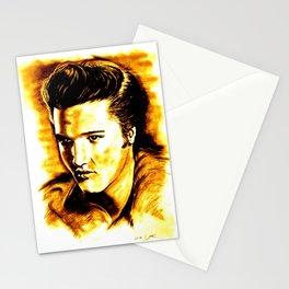 Elvis in Orange-Gold Stationery Cards