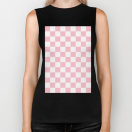 Checker (Pink/White) Biker Tank