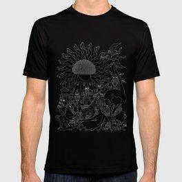"""Blue Venus"" Monochrome T-Shirt (Black) T-shirt"