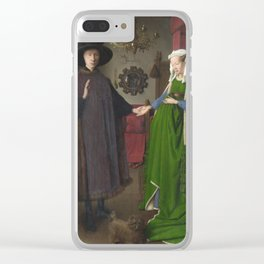 Jan Van Eyck- The Arnolfini Portrait. Clear iPhone Case