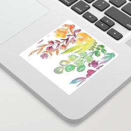 """Colorful ombre watercolor bouquet, """"Lindsay"""" Sticker"""