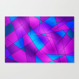 ABSTRACT LINES #1 (Purples, Violets, Fuchsias & Turquoises) Canvas Print