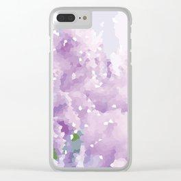 Purple Pattern Clear iPhone Case