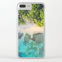 Caribbean Aerial Clear iPhone Case