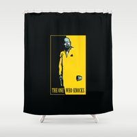 scarface Shower Curtains featuring The One Who Knocks by WinterArtwork