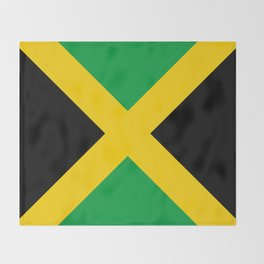 Flag of Jamaica Throw Blanket