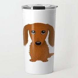 Longhaired Red Dachshund Travel Mug
