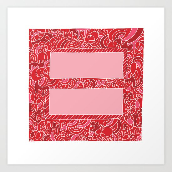 Support Marriage Equality. Art Print