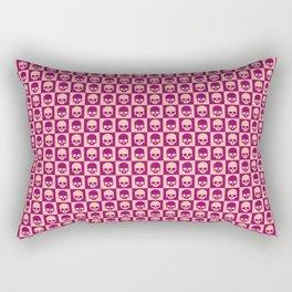Checkered Skulls Pattern II Rectangular Pillow