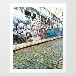 A Random Street in Palermo Art Print