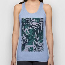 Tropical Jungle Leaves Pattern #5 #tropical #decor #art #society6 Unisex Tank Top