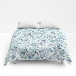 Ice and Diamonds Art Deco Pattern Comforters