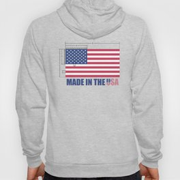 Made In the USA US Flag - Stars and Stripes Hoody