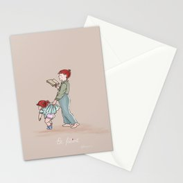 Be patient  Ephesians 4:2 children art print Stationery Cards