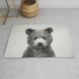 Baby Bear - Black & White Rug