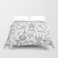 medical Duvet Covers featuring Medical background by aleksander1