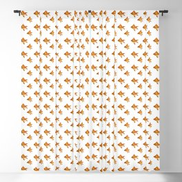 Gold Fish Painting Wall Art Blackout Curtain