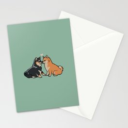 Shiba Inu Kisses Stationery Cards