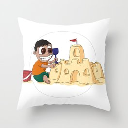 Sandpit of Enormousness Throw Pillow