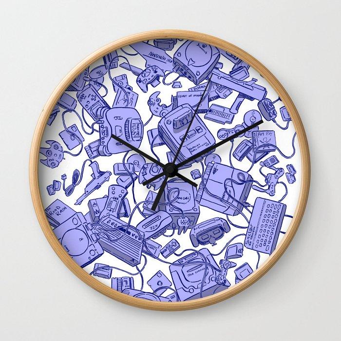 Retro Gamer - Blue Wall Clock