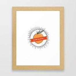 Garde la pêche ! Framed Art Print