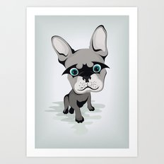 Bat French BullDog Art Print