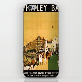 retro Whitley Bay old psoter iPhone Skin