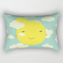 Miss Sunshine in clouds Rectangular Pillow