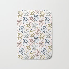 Rectangle Square Doodle Vector Pattern Seamless Primary Bath Mat