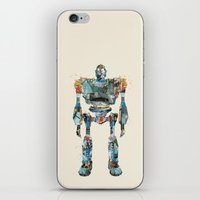 iron giant iPhone & iPod Skins featuring modern iron giant by bri.buckley
