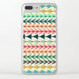 Colorful arrows Clear iPhone Case