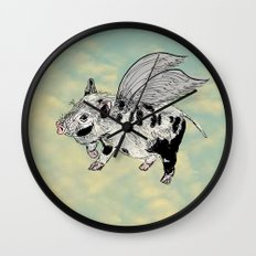 Pigs on the wing Wall Clock