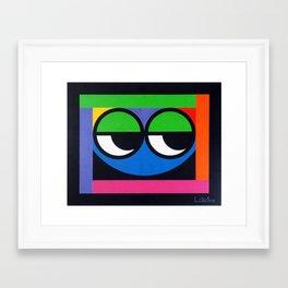Curious Guy - Paint Framed Art Print