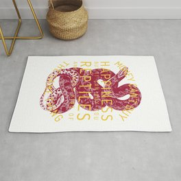 Happy luck reptile snake gift pet Rug