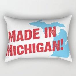 Made in Michigan Rectangular Pillow