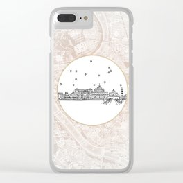 Roma (Rome), Italy, Europe City Skyline Illustration Drawing Clear iPhone Case
