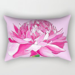 Flower#11 - Red Ginger Lily Rectangular Pillow