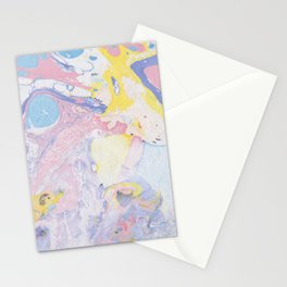 Colorful paper marble swirls Stationery Cards