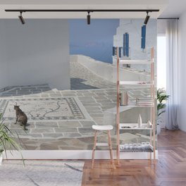 Cat and Mosaic - Milos - Landscape and Rural Art Photography Wall Mural