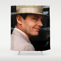 jack nicholson Shower Curtains featuring Jack Nicholson @ China Town by Gabriel T Toro