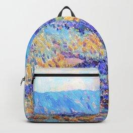 Granville Redmond - Blue flowers - Digital Remastered Edition Backpack