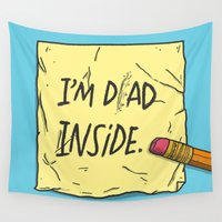 dad Wall Tapestries featuring I'm Dad Inside by Josh LaFayette