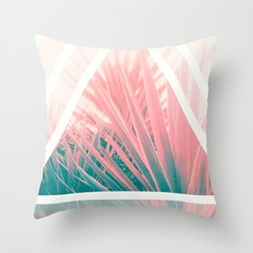 Pastel Palms into Triangle Throw Pillow