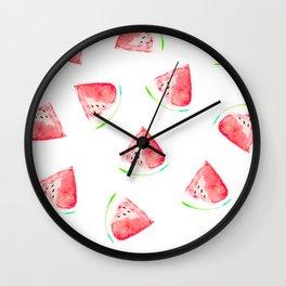 watermelon slice print Wall Clock