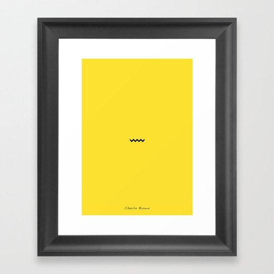 Charile Brown Framed Art Print