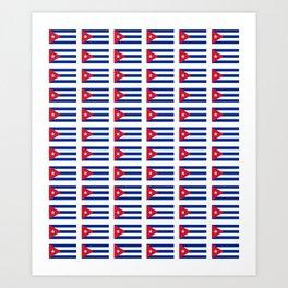 Flag of Cuba 2 -cuban,havana, guevara,che,castro,tropical,central america,spanish,latine Art Print
