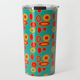 Midcentury Modern...teal ,mustard, red Travel Mug